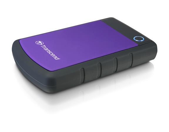 """TRANSCEND 4TB StoreJet 25H3P, 2.5"""", USB 3.0 (3.1 Gen 1) Externí Anti-Shock disk, tenký profil, černo/fialový, TS4TSJ25H3P"""