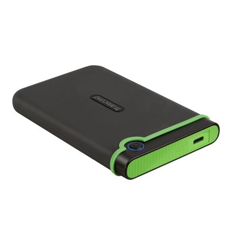 "TRANSCEND 2TB StoreJet 25M3C SLIM, 2.5"", USB-C (3.1 Gen 1) Externí Anti-Shock disk, tenký profil, šedo/zelený, TS2TSJ25M3C"