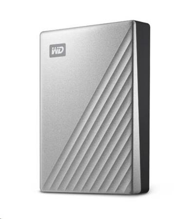 "Western Digital WD My Passport ULTRA 4TB Ext. 2.5"" USB3.0 Silver for MAC USB-C, WDBPMV0040BSL-WESN"