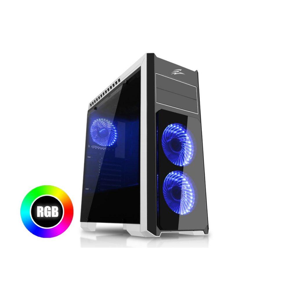 EVOLVEO Ray 4 RGB, case ATX, 3x RGB ventilátor, CAER4RB