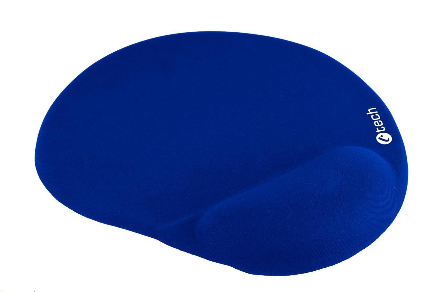C-TECH Podložka pod myš gelová MPG-03, modrá, 240x220mm, MPG-03B