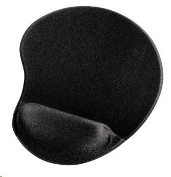 Hama ergonomická gélová podložka pod myš, čierna, 54777
