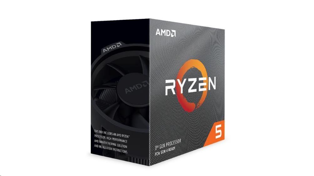 CPU AMD RYZEN 5 3600, 6-core, 3.6 GHz (4.2 GHz Turbo), 35MB cache (3+32), 65W, socket AM4, Wraith St