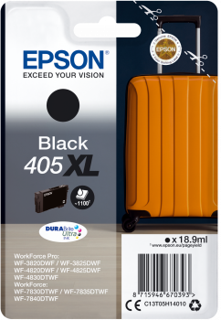 Epson Singlepack Black 405XL DURABrite Ultra Ink, C13T05H14010