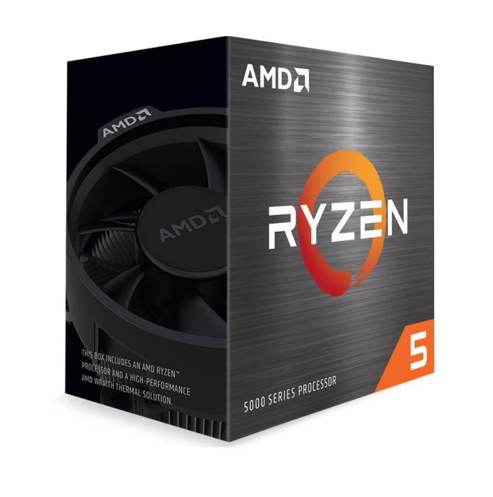 CPU AMD RYZEN 5 5600X, 6-core, 3.7 GHz (4.6 GHz Turbo), 35MB cache (3+32), 65W, socket AM4, Wraith S