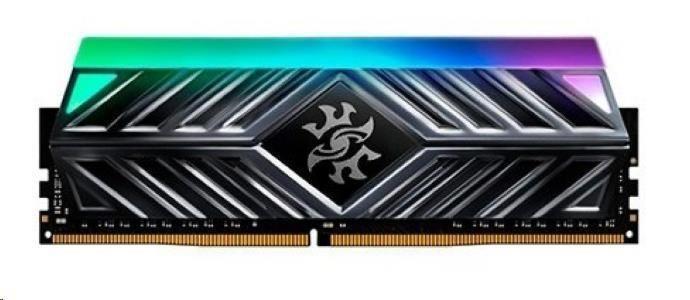 A-Data DIMM DDR4 8GB 3200MHz CL16 ADATA SPECTRIX D41 RGB, -ST41 memory, Single Color Box, AX4U320038