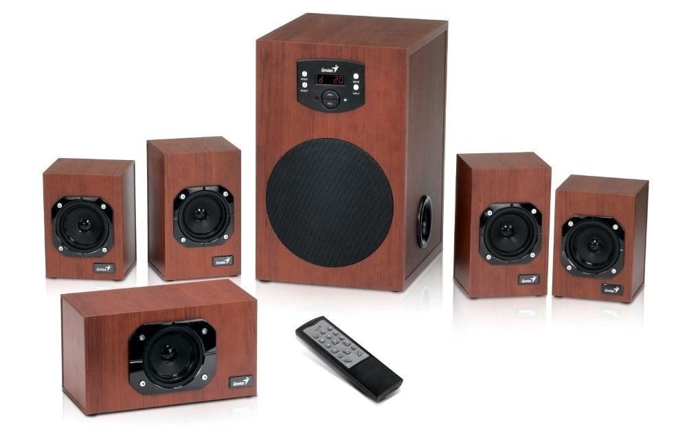 GENIUS repro dřevěné SW-HF 5.1 4600 v2, Home Theater, 120W RMS, DO, 31730016400