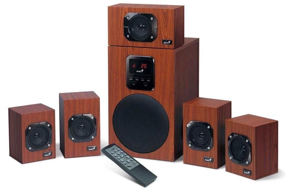 GENIUS repro dřevěné SW-HF 5.1 4800 v2/ 5.1/ 125W, cherry, DO, 31730017400