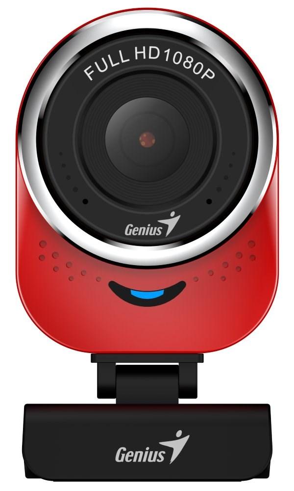 GENIUS webkamera QCam 6000/ červená/ Full HD 1080P/ USB2.0/ mikrofon, 32200002408