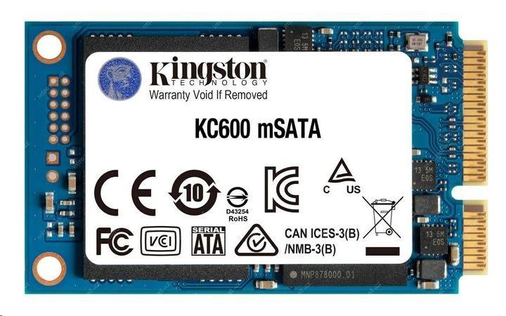 Kingston SSD 1024GB KC600 SATA3 mSATA (R:550, W:500MB/s), SKC600MS/1024G