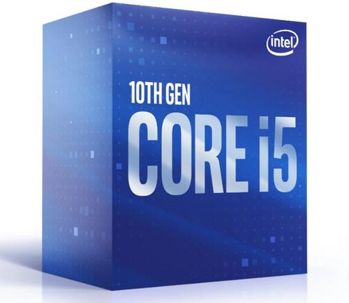 INTEL cpu CORE i5-10500 socket1200 Comet Lake BOX 65W 10.generace (s chladičem, 3.1GHz turbo 4.5GHz, 6x jádro, 12x vlákno, 12MB cache, pro DDR4 do 2666, grafika UHD 630), virtualizace, BX8070110500