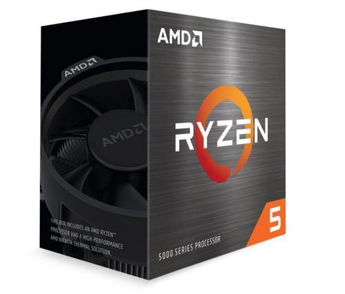 AMD cpu Ryzen 5 5600X AM4 Box (s chladičem, 3.7GHz / 4.6GHz, 32MB cache, 65W, 6x jádro, 12x vlákno), Zen3 Vermeer 7nm CPU, 100-100000065BOX
