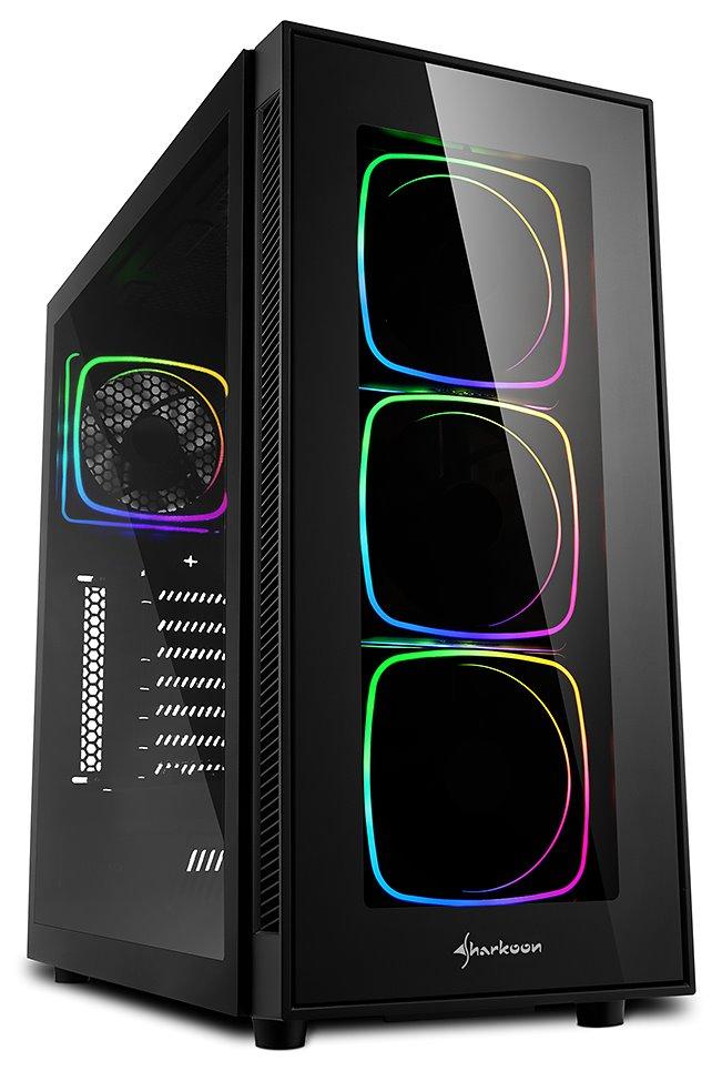 Sharkoon skříň TG6 ARGB / ATX / 2x USB3.0 / 2x USB2.0 / průhledná bočnice / ARGB LED / černá, 404495