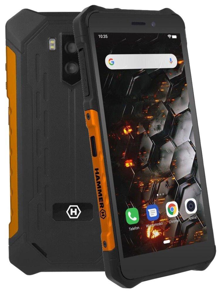 "myPhone Hammer Iron 3 - oranžový 5,45"" IPS/ Dual SIM/ 32GB/ 3GB RAM/ LTE/ IP68/ Android 9, TELMYAHIRON3LOR"