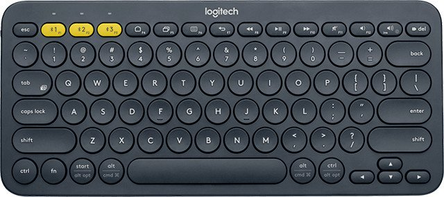 Logitech K380 Multi-Device Bluetooth® Keyboard Dark Grey - US INT´L, 920-007582