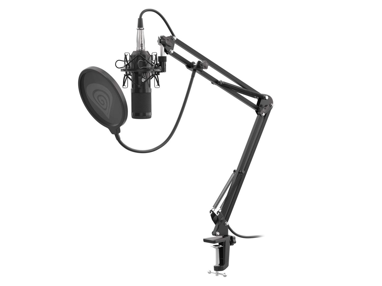 Streamovací mikrofon Genesis Radium 300,XLR, kardioidní polarizace, ohybné rameno, pop-filter, NGM-1695