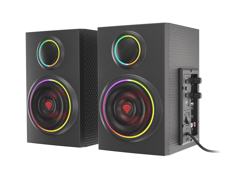 Reproduktory 2.0 24W GENESIS HELIUM 300BT ARGB, Bluetooth 5.0, NCS-1716