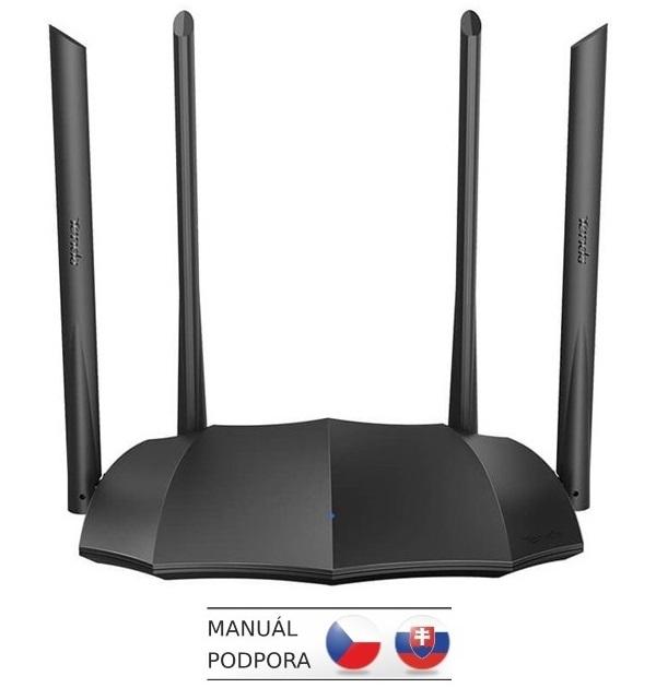 Tenda AC8 WiFi AC Gigabit Router 1200Mb/s, 1x GWAN, 3x GLAN, 4x 6dBi antény, WISP, Uni.Repeater, APP, AC8