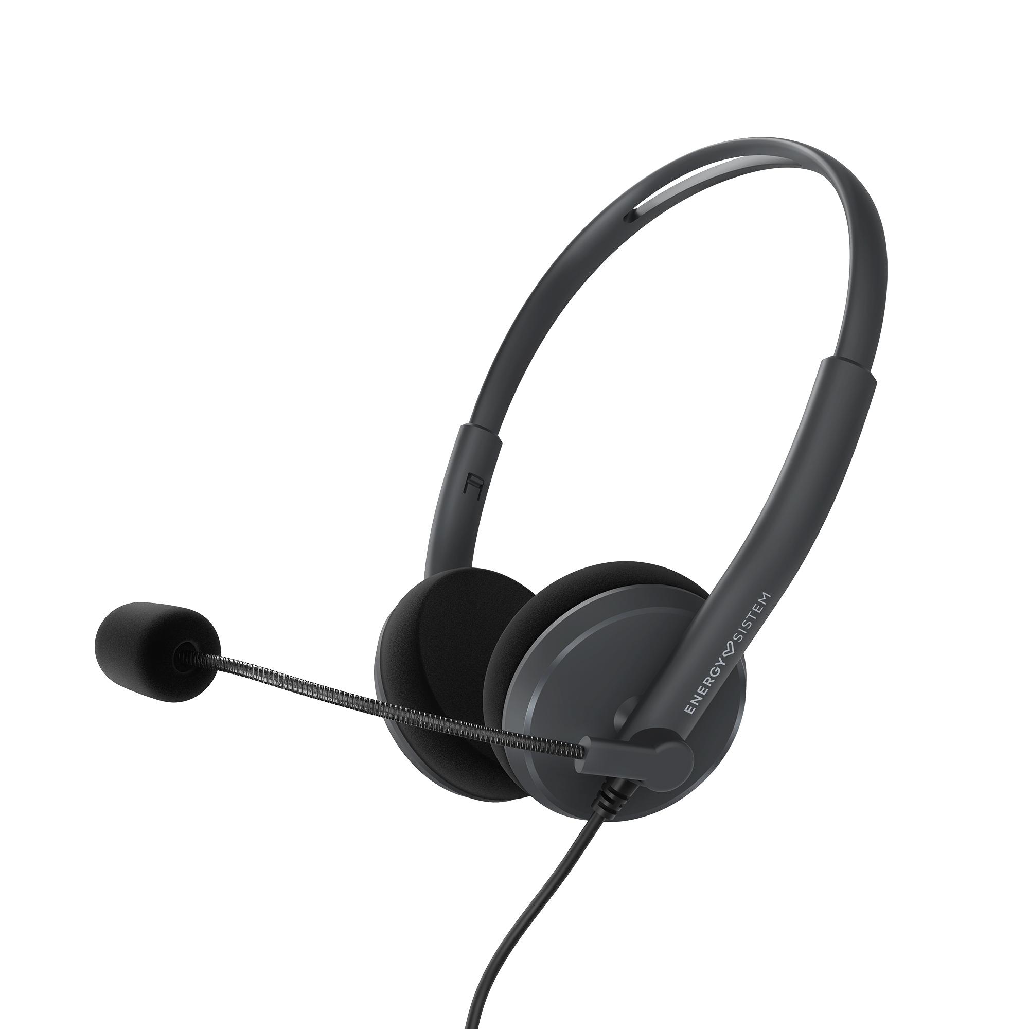 PIONEER Energy Sistem Headset Office 2, komunikační sluchátka s mikrofonem, USB kabel k PC, černá, 452132