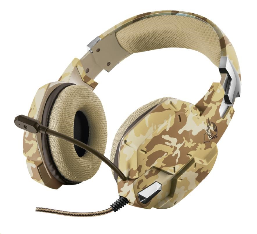 TRUST sluchátka GXT 322D Carus Gaming Headset - desert camo, 22125