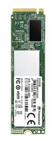 TRANSCEND MTE220S 512GB SSD disk M.2 2280, PCIe Gen3 x4 NVMe 1.3 (3D TLC), 3300MB/s R, 2100MB/s W, TS512GMTE220S