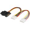 PremiumCord Napájecí Y kabel k HDD Serial ATA na 3x 5,25'' female 15cm, kfsa-9