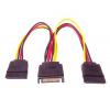 PremiumCord Napájecí kabel k HDD Serial ATA - rozdvojka M/2xF 16cm, kfsa-11