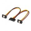 PremiumCord Napájecí rozdvojka k HDD SATA - 2x SATA zalomený 90°, kfsa-23