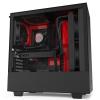 NZXT skříň H510i / ATX / průhledná bočnice / USB 3.0 / USB-C 3.1 / RGB LED / Smart case s intel. funkcemi / černočervená