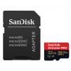 SanDisk Extreme Pro 32GB microSDHC / CL10 / A1 / UHS-I V30 / 100mb/s / vč. adaptéru, SDSQXCG-032G-GN6MA