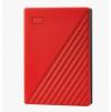 Ext. HDD 2,5'' WD My Passport 4TB USB 3.0. červený