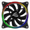 EVOLVEO Ptero FR1, Rainbow, PWM, 6pin, 5V RGB ventilátor 120mm, rgb-fan-12fr1