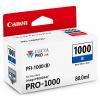 Canon inkoustová náplň PFI-1000 (modrá, 80ml) pro Canon imagePROGRAF PRO-1000
