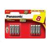 PANASONIC Alkalické baterie Pro Power LR03PPG/8BW AAA 1,5V (Blistr 8ks), 80265909