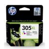 HP 3YM63AE náplň č.305XL tří-barevná velká cca 200 stran (pro DJ 2320, 2720, 4120], 3YM63AE