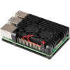 JOY-IT RASPBERRY PI case Armor Fan pro Raspberry Pi 4 B, černá, RB-AlucaseP4+07FAN
