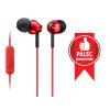 SONY sluchátka MDR-EX110AP, handsfree, červené, MDREX110APR.CE7