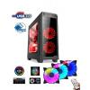1stCOOL Middle Tower GAMER 2 AURA, ATX black černý, čtečka karet, bez zdroje, fulltower ATX (2xUSB2+ 1xUSB3+ Audio+ Transparentní bočnice) (PC case), ML-GAMER2-CR-ARGB