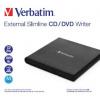 VERBATIM externí mechanika Slimline CD/DVD Writer USB - without NERO, 53504