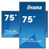 75'' iiyama LH7542UHS-B3: IPS, 4K UHD, 500cd/m2, 18/7/ LAN, Android 8.0, černý, LH7542UHS-B3