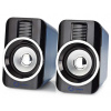 NEDIS herní reproduktory/ 2.0/ výkon 30 W/ 3,5 mm jack/ USB/ ABS/ černo-stříbrné, GSPR20020BK