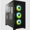 CORSAIR case iCUE 4000X RGB, Mid-Tower, ATX Case, RGB, průhledná bočnice, bez zdroje, černá, CC-9011204-WW