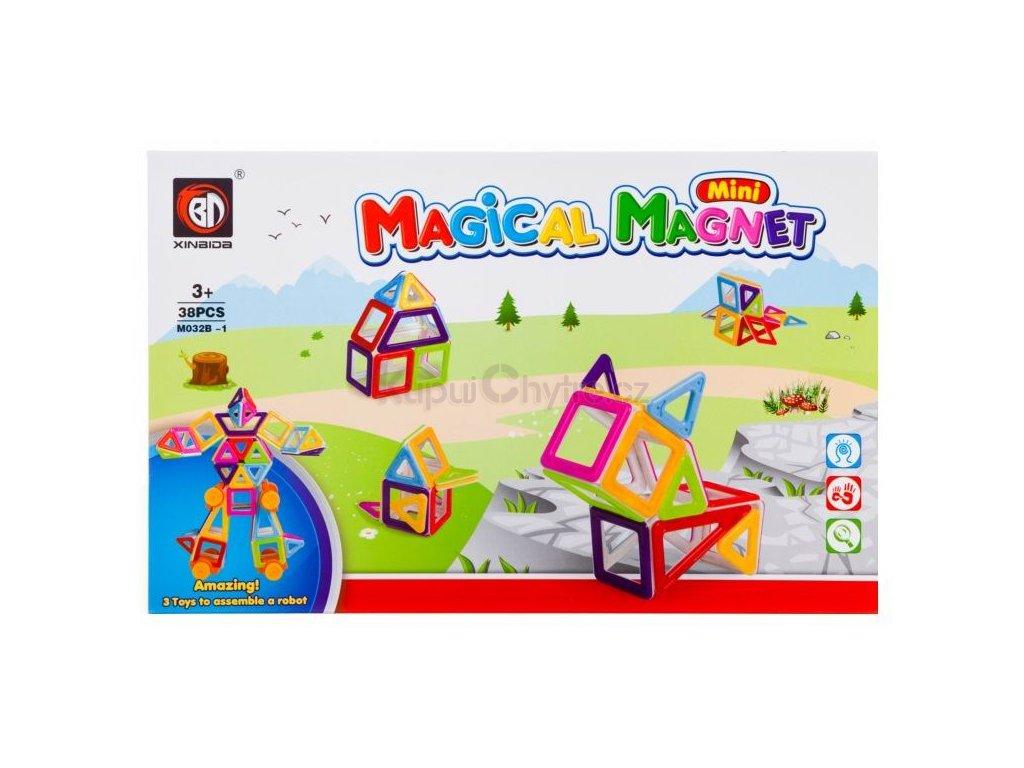 Magical Magnet M032B-1 - Magnetická stavebnice - 38 dílů