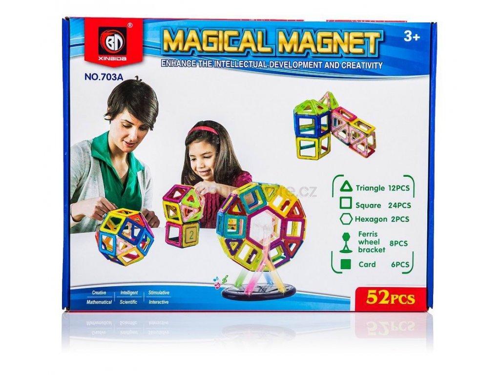 Magnetická stavebnice Magical Magnet 52 dílů