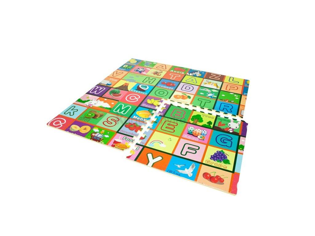 Pěnový koberec EVA - abeceda / dětská podložka 61 x 61cm - 4 ks