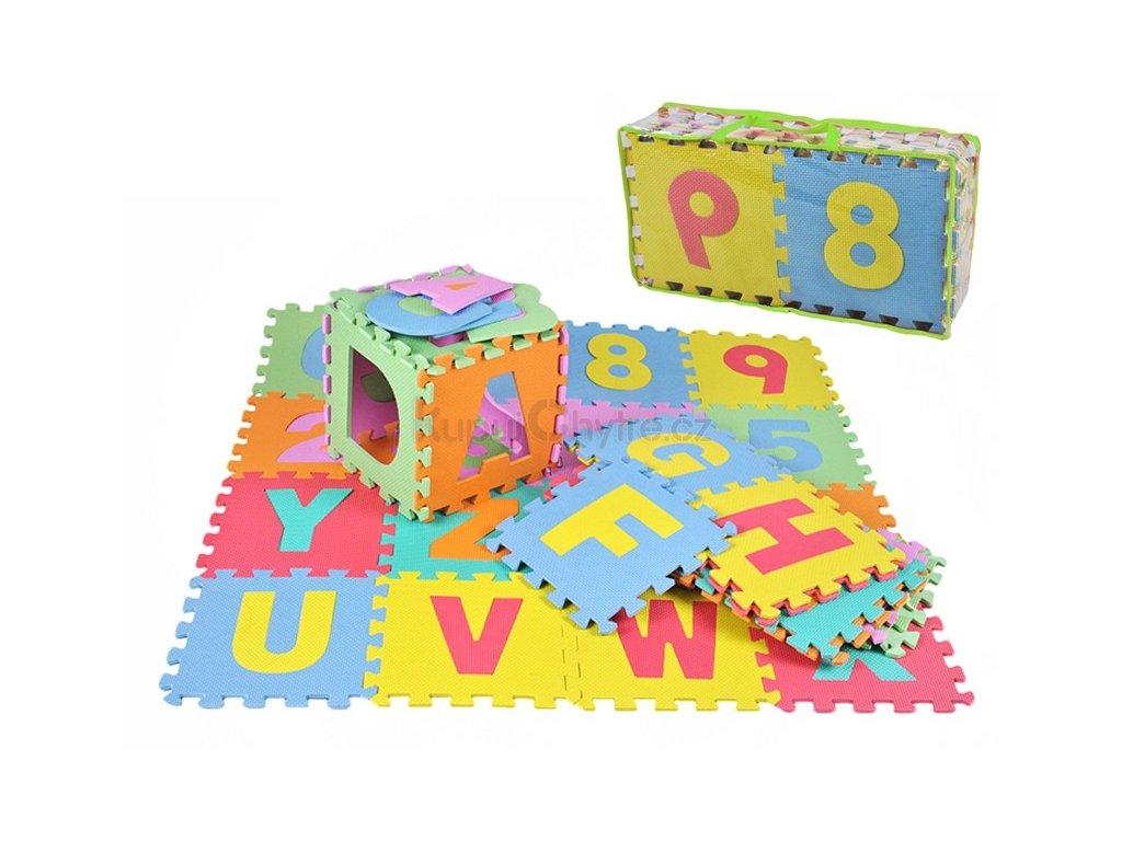 Dětský pěnový koberec - PUZZLE podložka 30 x 30cm - 36 ks - POŠKOZENÝ OBAL