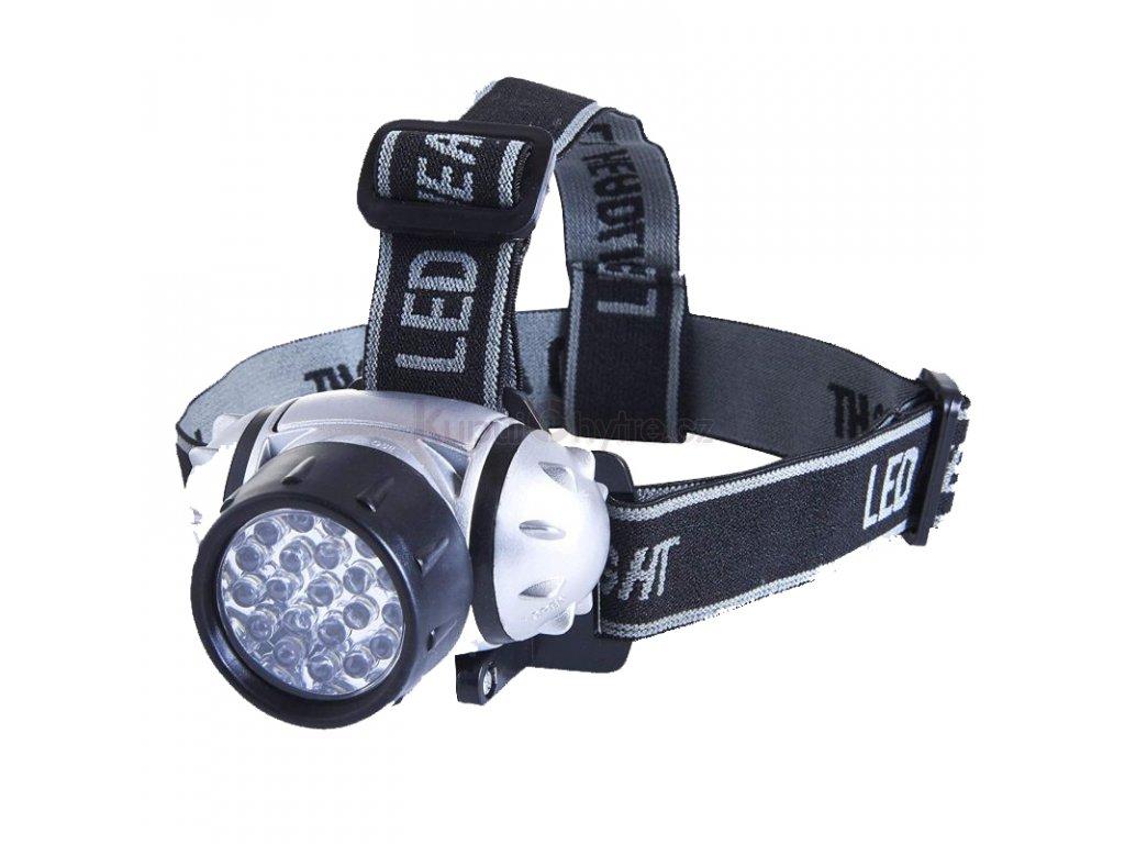Čelová svítilna 12 LED diod