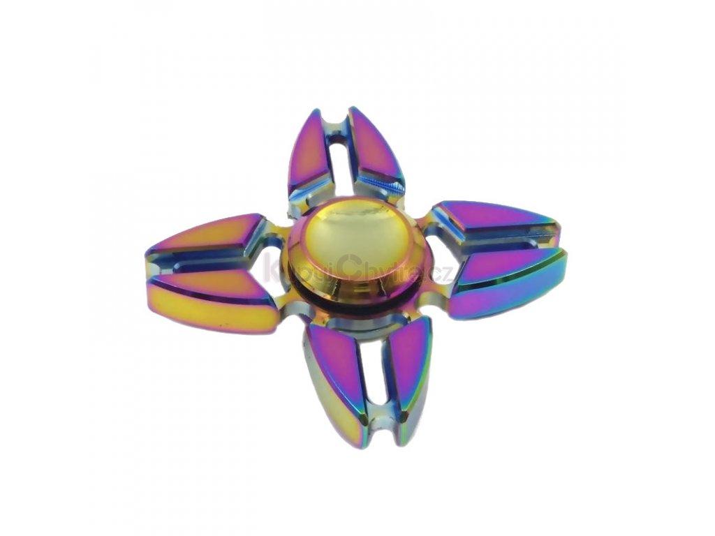 Fidget Spinner Metalowy Teczowy wzor 6 box 3583