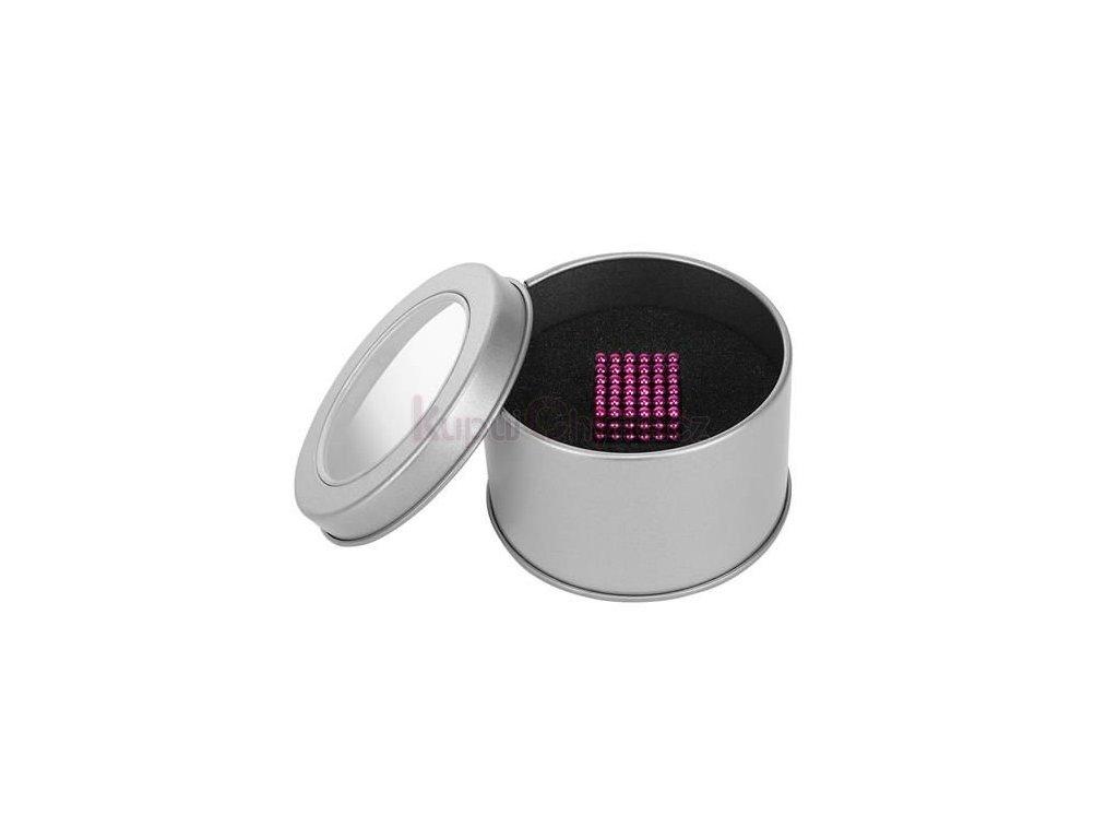 NeoCube - Magnetické kuličky 3 mm - růžové