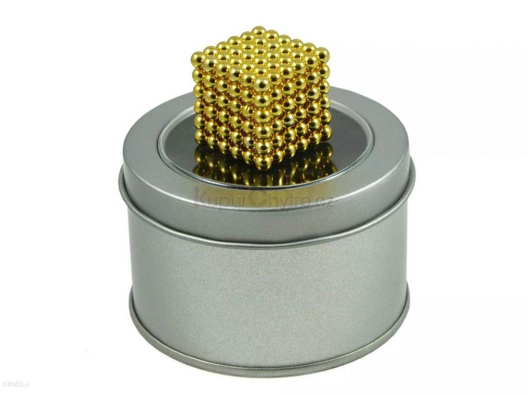 NeoCube - Magnetické kuličky 3 mm - zlaté